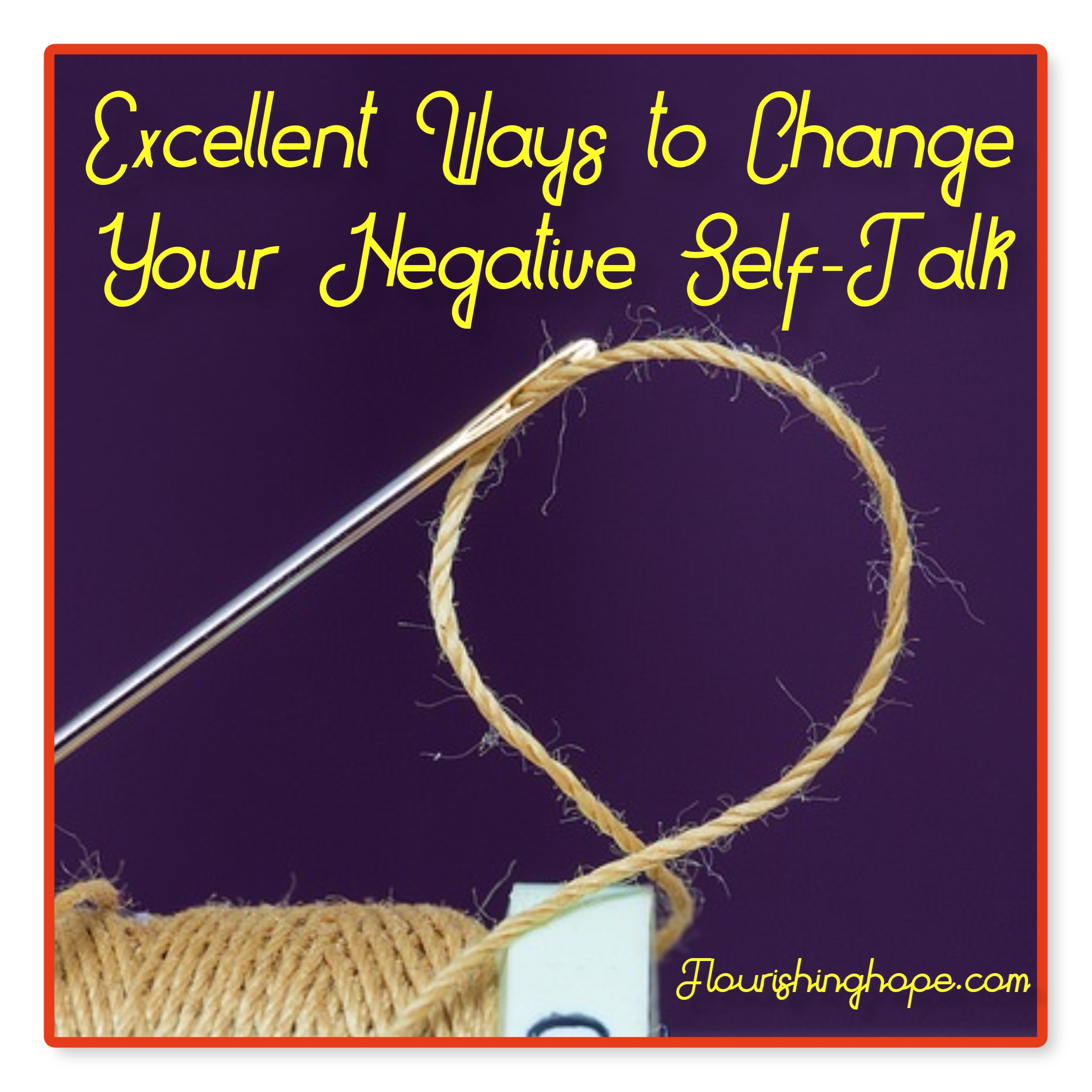 how to change negative self talk